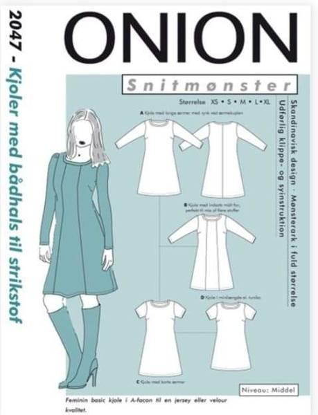 Bilde av Kjole med båthals  XS-XL - Onion