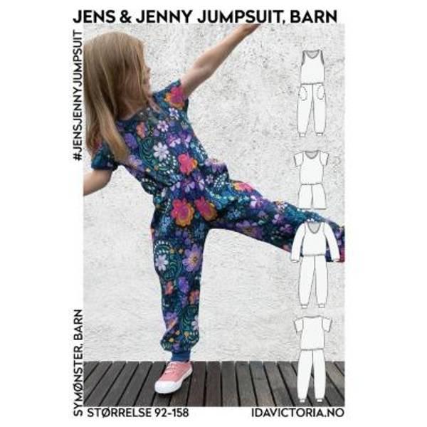 Bilde av Jens & Jenny Jumpsuit, barn (92-158)